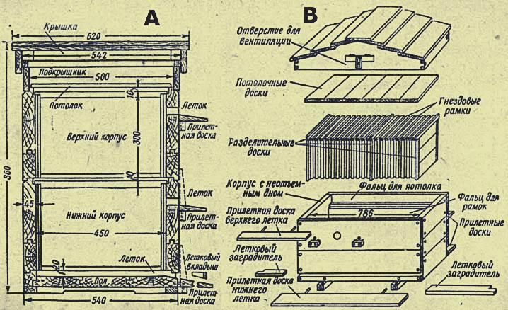 Ульи дадана для пчел своими руками чертежи 470
